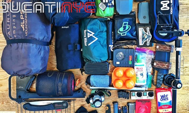 ALL MY CAMPING GEAR – everything I bring with me when I go motocamping v564
