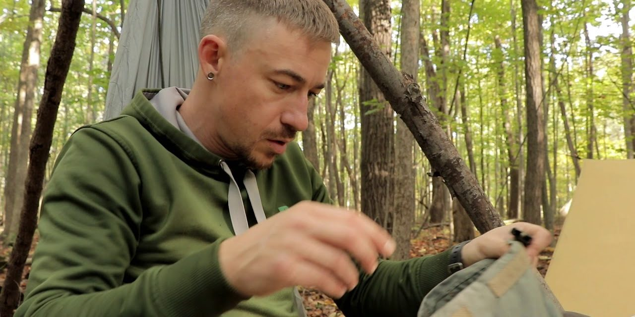 Overnight Bushcraft Camp With Scout 2 Cooking Food, Tarp Camping, Breaking Down Camp.