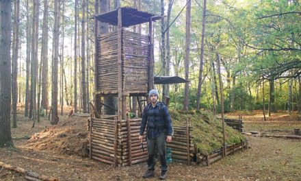 Bushcraft Camp Update 12 – Wood Roof Kitchen, Overnight Camp & Perimeter Wall Expansion