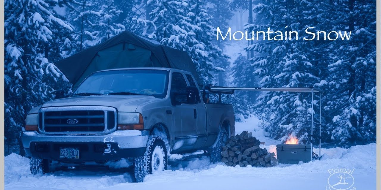Snow Camping in the Mountains