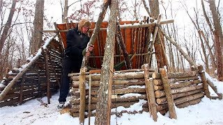 Winter Bushcraft Basecamp