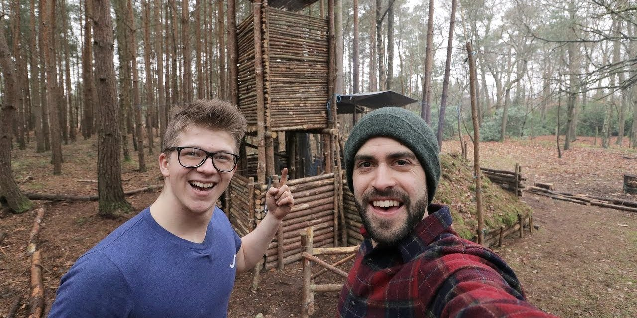 Bushcraft ft. ALEC STEELE – Fire Lighting, Steak, Axe work – Epic Day at The Camp!