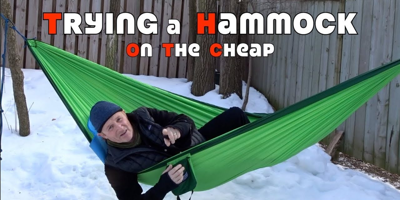 Trying a Camping Hammock on the Cheap