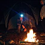 Bushcraft overnight in the spring