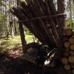 My Bushcraft camp in the Canadian Wilderness / Wilderness Survival Lean-to Shelter
